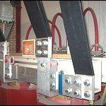Particolare di collegamento blindo sbarra ventilata a trasformatore lato B.T.