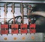 Connessione blindo sbarra ventilata 1500A 400V lato quadro generale distribuzione.