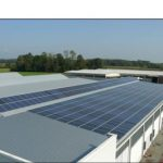 Impianto fotovoltaico fisso su tetto 101,65 kWp (tipo totalmente integrato)