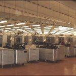 Particolare illuminazione industriale standard.
