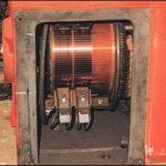 Particolare motore c.c. prima della revisione.
