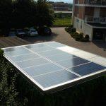 Impianto fotovoltaico totalmente integrato realizzato su rimessa auto