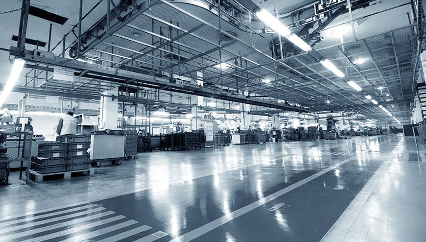 Impianti di illuminazione industriale